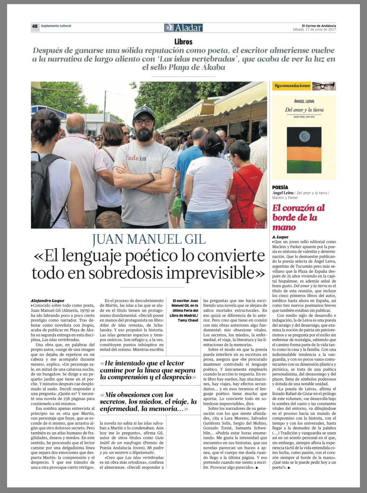 Del amor y la tierra | El Correo de Andalucía | Maclein Y Parker | Editorial de libros independiente | Venta de libros online