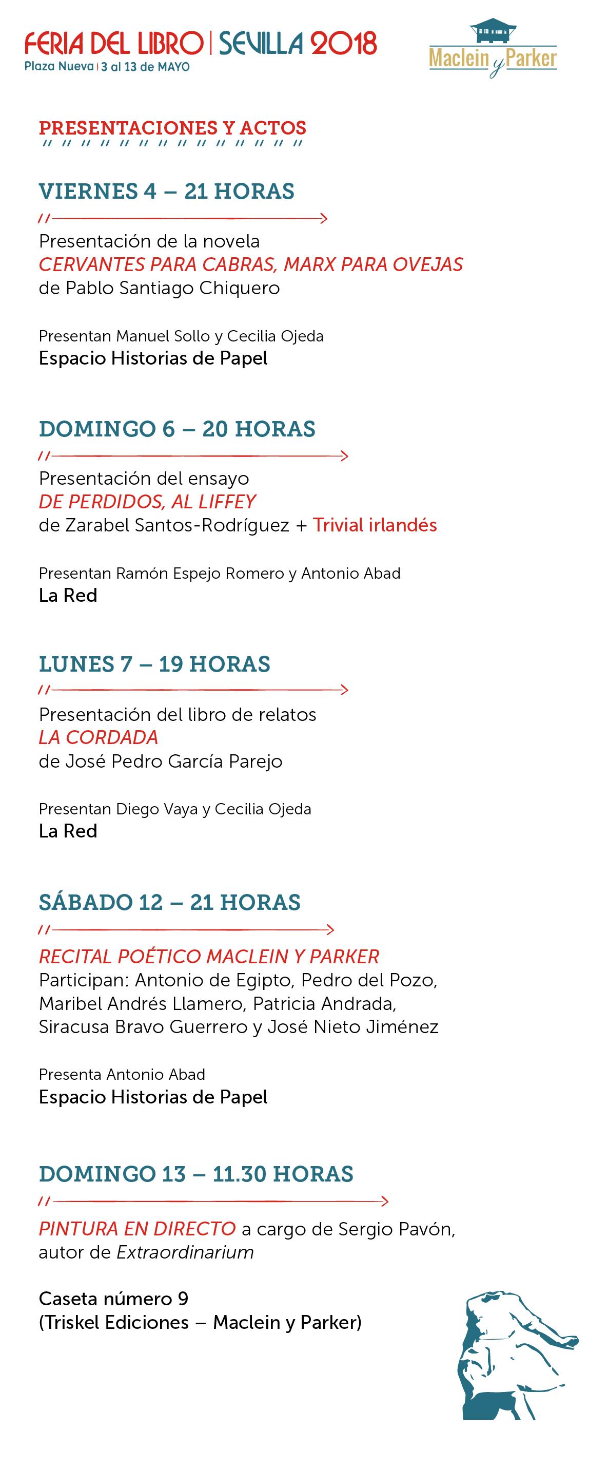 Actos Feria del Libro de Sevilla